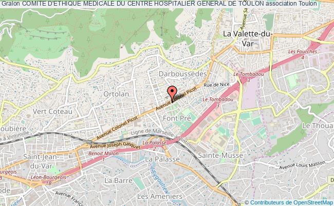 plan association Comite D'ethique Medicale Du Centre Hospitalier General De Toulon