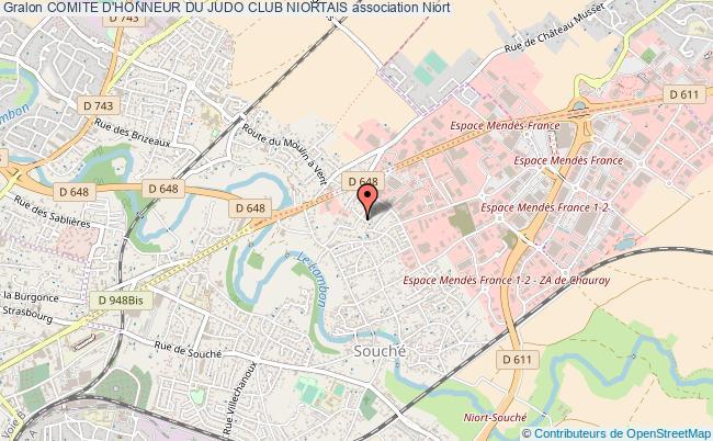 plan association Comite D'honneur Du Judo Club Niortais