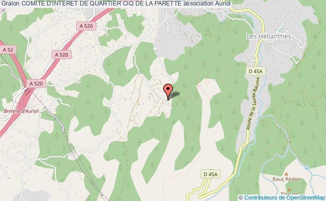 plan association Comite D'interet De Quartier Ciq De La Parette