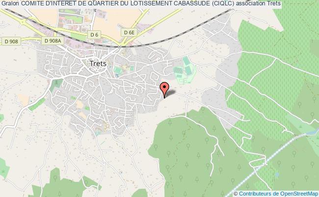 plan association Comite D'interet De Quartier Du Lotissement Cabassude (ciqlc)