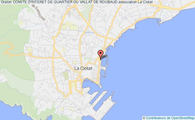 plan association Comite D'interet De Quartier Du Vallat De Roubaud