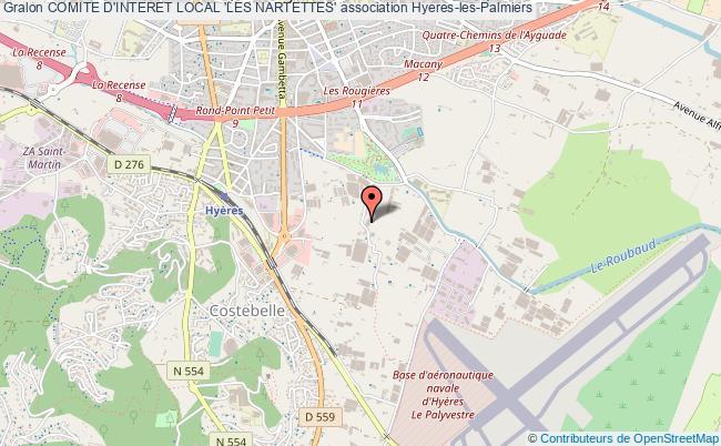 plan association Comite D'interet Local 'les Nartettes'
