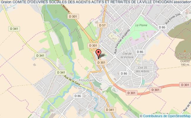 plan association Comite D'oeuvres Sociales Des Agents Actifs Et Retraites De La Ville D'houdain