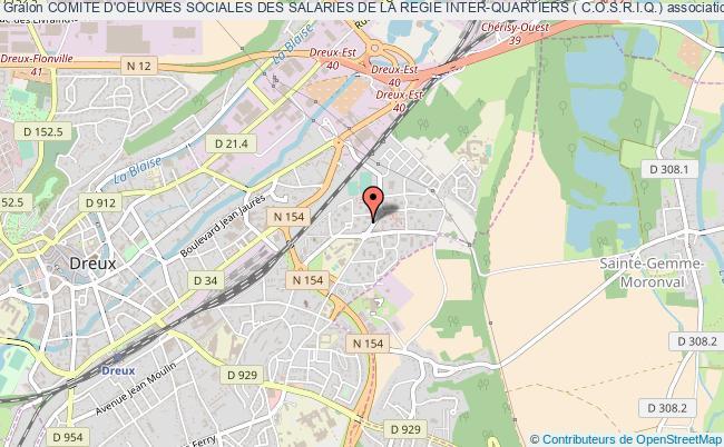 plan association Comite D'oeuvres Sociales Des Salaries De La Regie Inter-quartiers ( C.o.s.r.i.q.)