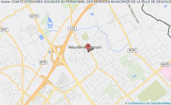 plan association Comite D'oeuvres Sociales Du Personnel Des Services Municipaux De La Ville De Neuville En Ferrain Neuville-en-Ferrain