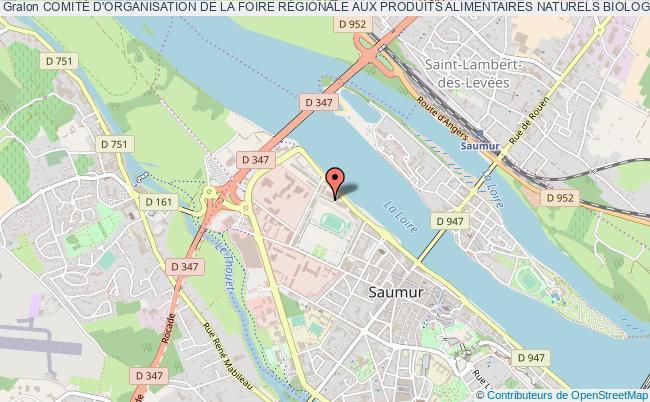 plan association ComitÉ D'organisation De La Foire RÉgionale Aux Produits Alimentaires Naturels Biologiques De Saumur