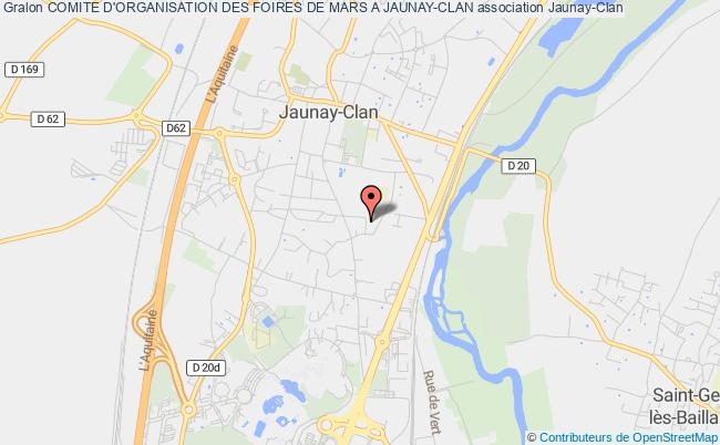 plan association Comite D'organisation Des Foires De Mars A Jaunay-clan