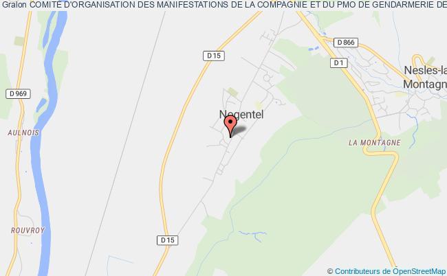 plan association ComitÉ D'organisation Des Manifestations De La Compagnie Et Du Pmo De Gendarmerie De Chateau Thierry-nogentel Château-Thierry