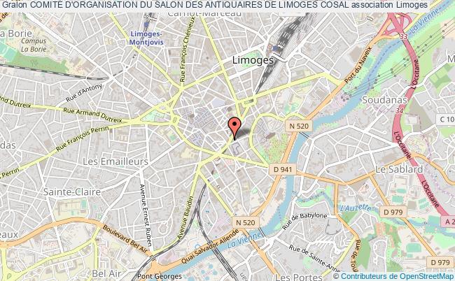 plan association ComitÉ D'organisation Du Salon Des Antiquaires De Limoges Cosal