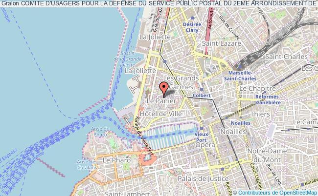 plan association Comite D'usagers Pour La Defense Du Service Public Postal Du 2eme Arrondissement De Marseille