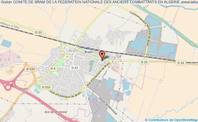 plan association Comite De Bram De La Federation Nationale Des Anciens Combattants En Algerie
