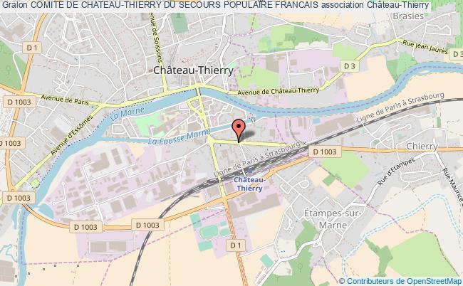 plan association Comite De Chateau-thierry Du Secours Populaire Francais