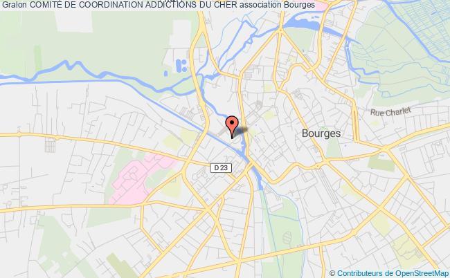 plan association Comite De Coordination Des Associations De Lutte Contre L'alcoolisme Du Cher Bourges