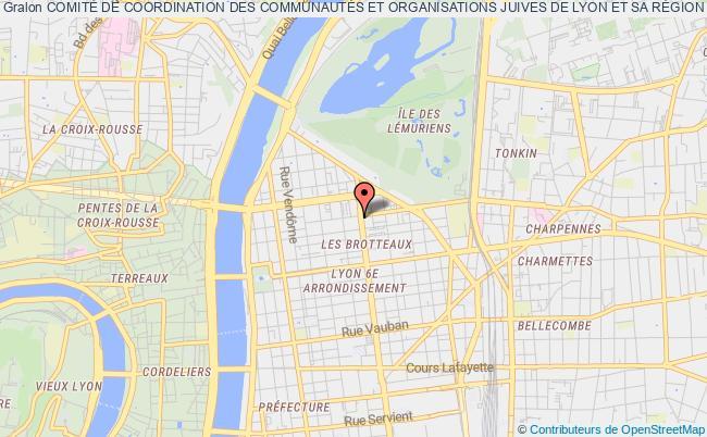 plan association ComitÉ De Coordination Des CommunautÉs Et Organisations Juives De Lyon Et Sa RÉgion (crif Auvergne-rhÔne-alpes) Conseil ReprÉsentatif Des Institutions Juives De France Lyon