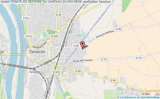 plan association Comite De Defense Du Chateau Du Roi Rene