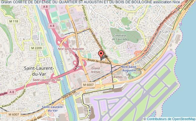 plan association Comite De Defense Du Quartier St Augustin Et Du Bois De Boulogne Nice