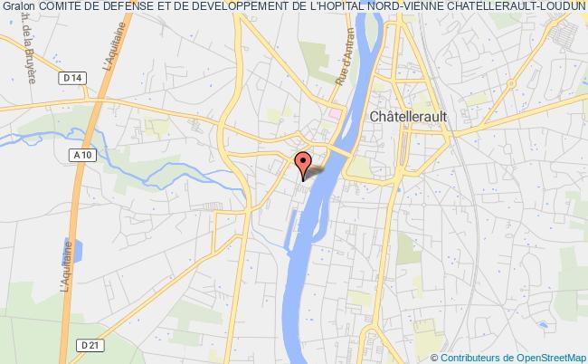plan association Comite De Defense Et De Developpement De L'hopital Nord-vienne Chatellerault-loudun
