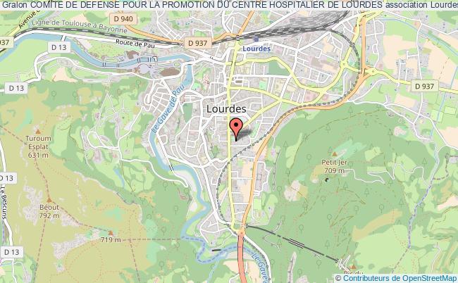 plan association Comite De Defense Pour La Promotion Du Centre Hospitalier De Lourdes Lourdes