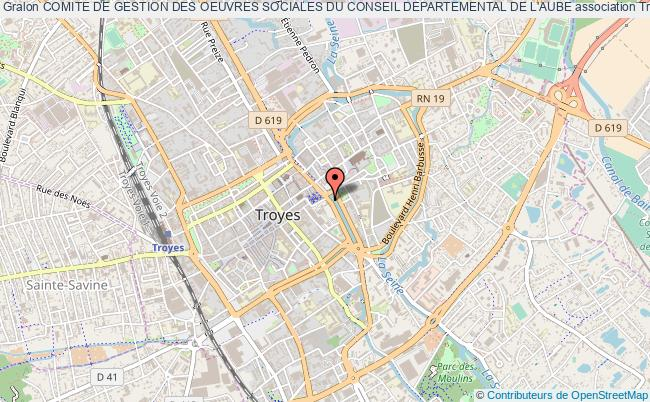 plan association Comite De Gestion Des Oeuvres Sociales Du Conseil Departemental De L'aube Troyes