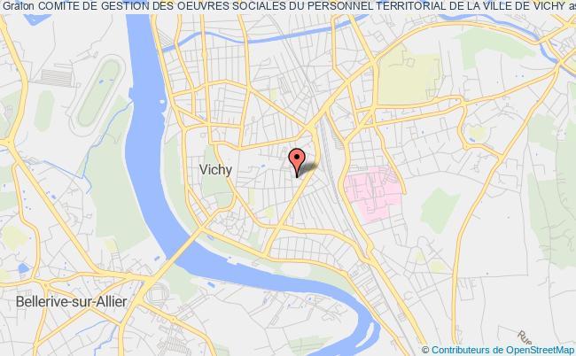 plan association Comite De Gestion Des Oeuvres Sociales Du Personnel Territorial De La Ville De Vichy