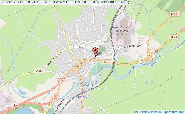 plan association Comite De Jumelage Blanzy-hettenleidelheim
