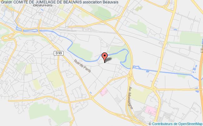 plan association Comite De Jumelage De Beauvais Beauvais