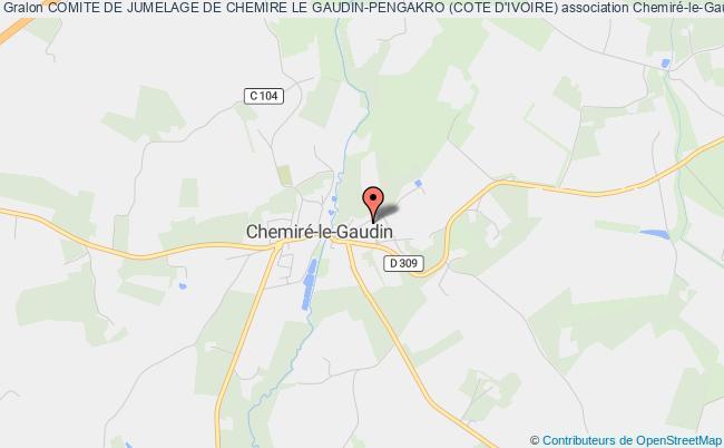 plan association Comite De Jumelage De Chemire Le Gaudin-pengakro (cote D'ivoire)