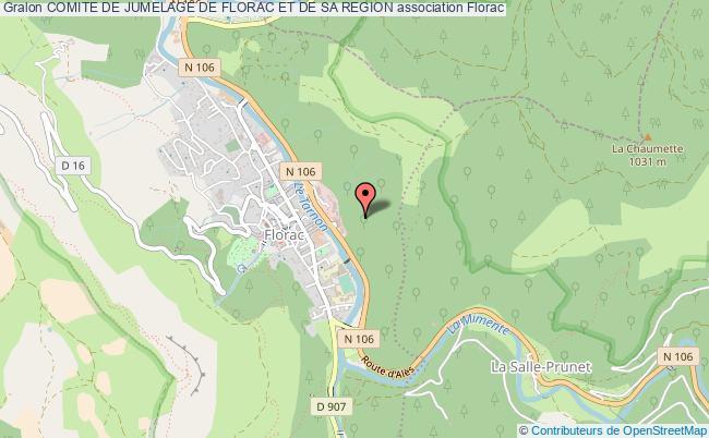 plan association Comite De Jumelage De Florac Et De Sa Region