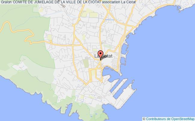 plan association Comite De Jumelage De La Ville De La Ciotat