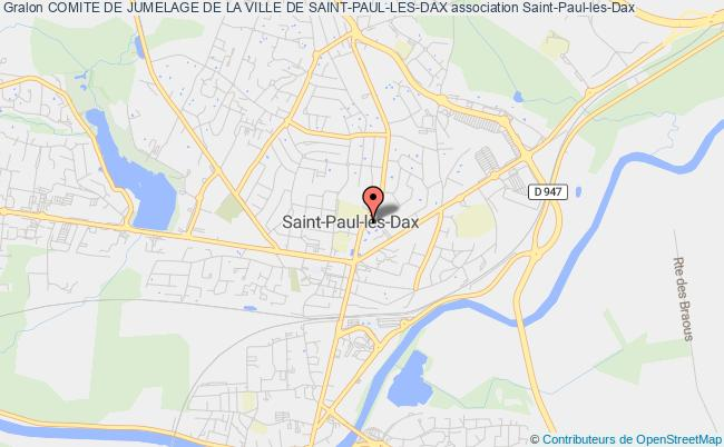carte de la ville de saint paul les dax. Black Bedroom Furniture Sets. Home Design Ideas