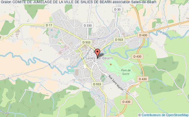 plan association Comite De Jumelage De La Ville De Salies De Bearn
