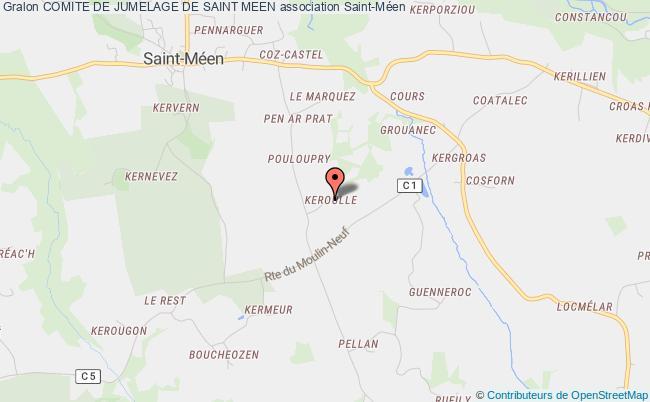 plan association Comite De Jumelage De Saint Meen