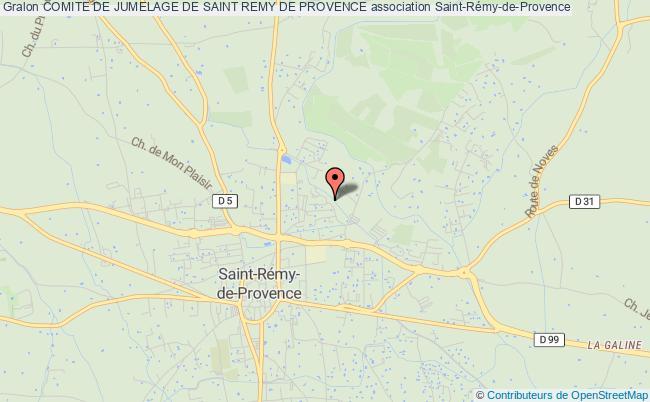 plan association Comite De Jumelage De Saint Remy De Provence