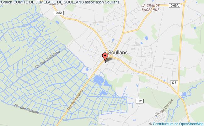plan association Comite De Jumelage De Soullans Soullans