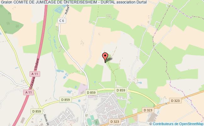plan association Comite De Jumelage De Untereisesheim - Durtal