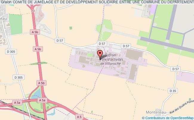 plan association Comite De Jumelage Et De Developpement Solidaire Entre Une Commune Du Departement De Brakna En Mauritanie Et La Ville De Reau - Seine Et Marne