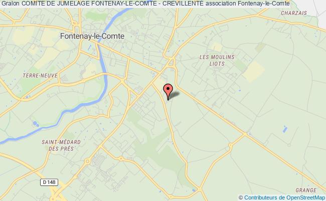 plan association Comite De Jumelage Fontenay-le-comte - Crevillente