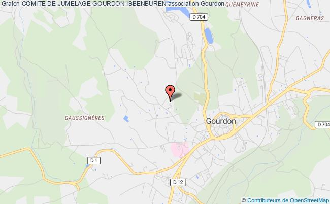 plan association Comite De Jumelage Gourdon Ibbenburen