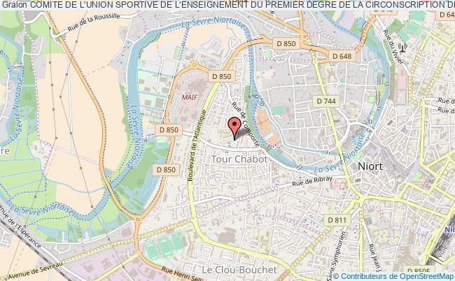 plan association Comite De L'union Sportive De L'enseignement Du Premier Degre De La Circonscription De Saint Maixent