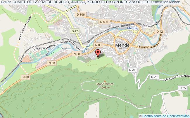 plan association Comite De La Lozere De Judo, Jujitsu, Kendo Et Disciplines Associees Mende