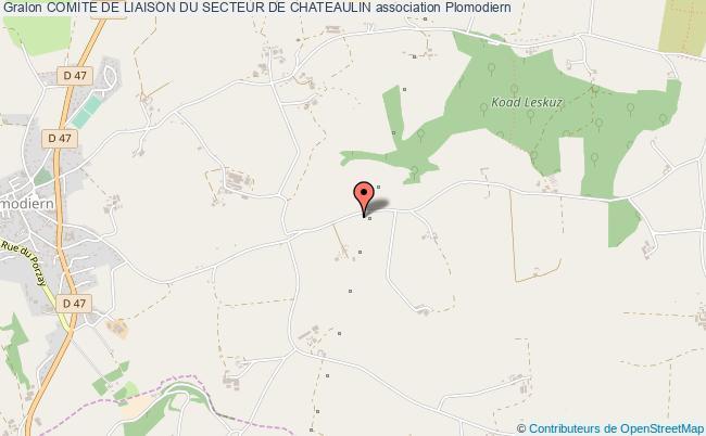 plan association Comite De Liaison Du Secteur De Chateaulin