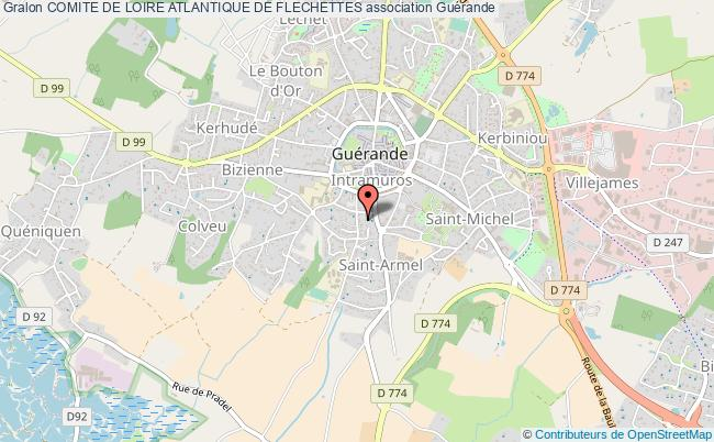 plan association Comite De Loire Atlantique De Flechettes Guérande