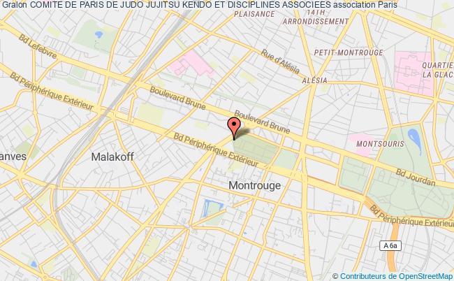 plan association Comite De Paris De Judo Jujitsu Kendo Et Disciplines Associees Paris