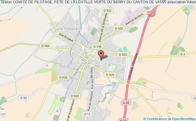 plan association Comite De Pilotage, Fete De La Lentille Verte Du Berry Du Canton De Vatan Vatan