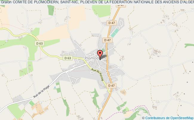 plan association Comite De Plomodiern, Saint-nic, Ploeven De La Federation Nationale Des Anciens D'algerie Maroc Tunisie