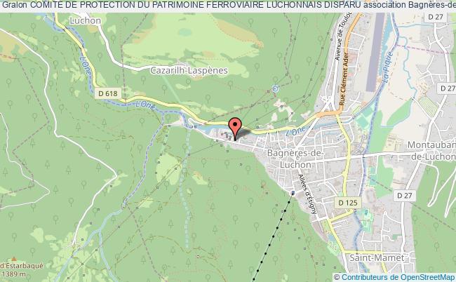 plan association Comite De Protection Du Patrimoine Ferroviaire Luchonnais Disparu Bagnères-de-Luchon