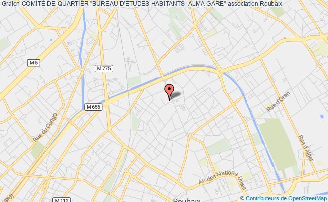 """plan association ComitÉ De Quartier """"bureau D'etudes Habitants- Alma Gare"""""""