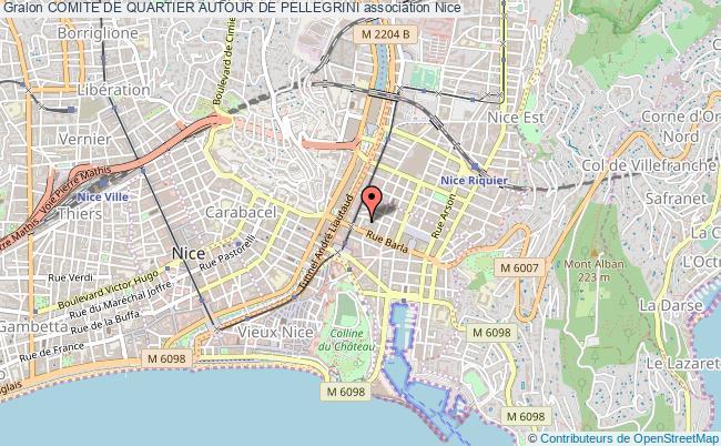 plan association Comite De Quartier Autour De Pellegrini Nice