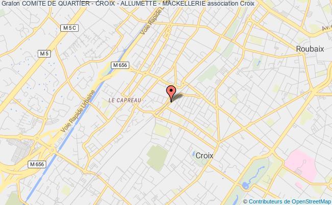 plan association Comite De Quartier - Croix - Allumette - Mackellerie