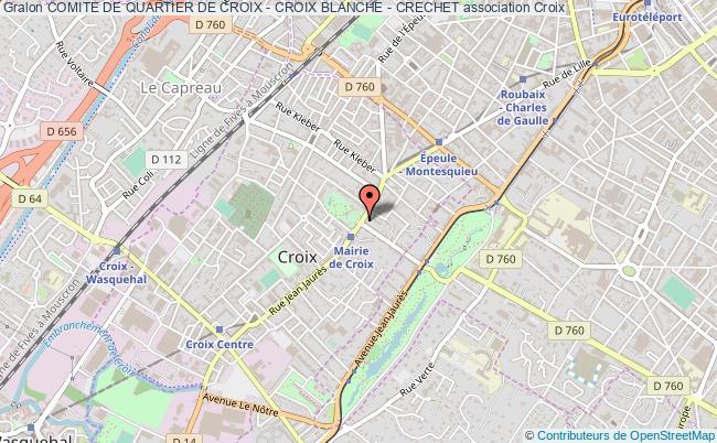 plan association Comite De Quartier De Croix - Croix Blanche - Crechet